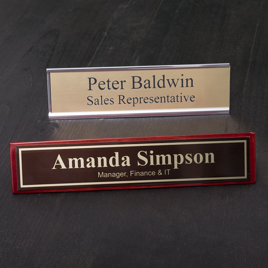 Name Plates for a desk